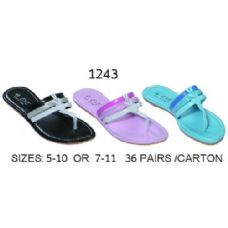 Wholesale Footwear Ladies Two Tone Sandal
