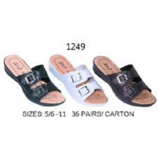 Wholesale Footwear Ladies Sandal With Two Buckle