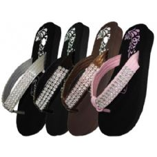 Wholesale Footwear Girls Sandal With Rhinestone Strap