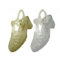 Wholesale Footwear Woman Jelly Sandal In Clear Only