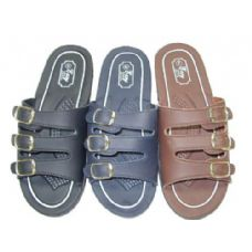 Wholesale Footwear Ladies Three Buckle Slide Sandal Size 5-10
