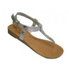 Wholesale Footwear Ladies Beaded Ankle Thong Sandal
