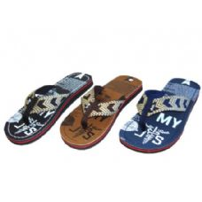 Wholesale Footwear Men Printed Thong Sandal