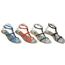 Wholesale Footwear Ladies Strap Sandal With Color Studs