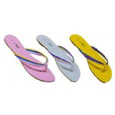 Wholesale Footwear Ladies Pastel Color Sandal With Color Straps