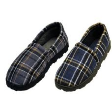 Wholesale Footwear Plaid Rubber Bottom Slippers