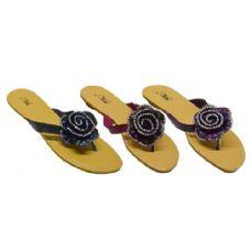 Wholesale Footwear Rhinestone Floral Sandal