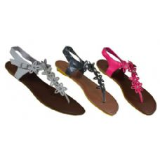 Wholesale Footwear Ladies Floral Strap Sandal