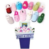 Wholesale Footwear WOMEN FLEECE SLIPPERS ASSORTED STYLES + SIZES