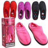 Wholesale Footwear WOMENS MEMORY FOAM SLIPPERS ASSORTED COLORS SIZE S-L