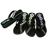 Wholesale Footwear Womens Flip Flops Black, Size 5 - 10