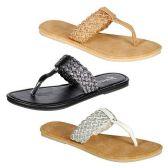Wholesale Footwear WOMENS THONG SANDALS SIZE 6-11 BLCK, BEIGE, WHITE