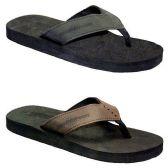 Wholesale Footwear MENS THONG SANDALS BLCK, BRWN SIZE 7 - 12