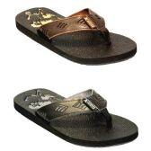 Wholesale Footwear MENS FLI FLOPS BLCK, BRWN SIZE 7 - 12