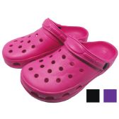 Wholesale Footwear EVA LADIES CLOG SIZE 6 - 11 ASSORTED COLORS