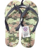 Wholesale Footwear MEN'S FLIP FLOP CAMOUFLAGE ASSORTED SIZES 8-13 AND COLORS
