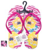 Wholesale Footwear LADIES FLIP FLOP FLOWERS ASSORTED SIZES 5-10 AND COLORS