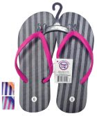 Wholesale Footwear PRIDE LADIES FLIP FLOP STRIPED ASSORTED SIZES 5-10 AND COLORS