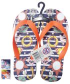 Wholesale Footwear BOYS FLIP FLOP OCEAN ASSORTED SIZES 11-3 AND COLORS