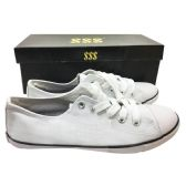 Wholesale Footwear WHITE CANVAS SNEAKERS ASST SIZES 6-10 BOXED