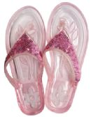 Wholesale Footwear Ladies Embellished Jelly Flip Flops Assorted Sizes 5-11