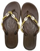 Wholesale Footwear LADIES SHELL BEAD JELLY FLIP FLOPS ASSORTED SIZES 5-11