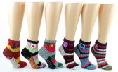 Wholesale Footwear Women's Deluxe Crochet Slipper Socks W/ NoN-Skid Grips