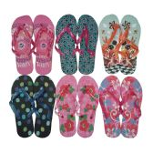 Wholesale Footwear Women's Flip Flops - Assorted Patterns