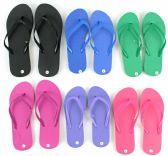 Wholesale Footwear Women's Flip Flops - Solid Colors