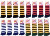 Wholesale Footwear Women's Striped Toe Socks Mega Mix (size 9 - 11)