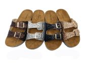 Wholesale Footwear GLITTER BIRKENSTOCK WOMEN SANDALS IN ROSE GOLD