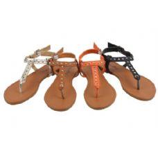 Wholesale Footwear Ladies' Fashion Sandals Size 6-11