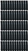Wholesale Footwear SOCKSNBULK Women's Solid Cotton Tube Socks, Solid Black, Size 9-11