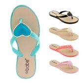 Wholesale Footwear Women's Flip Flop with heart ornament
