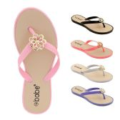 Wholesale Footwear Women's Rhinestone Flip Flop With Crystal Flower