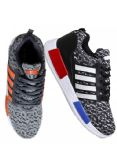 Wholesale Footwear Womens Fashion Sneakers In Grey And Orange