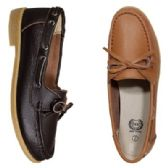 Wholesale Footwear Womens Leather Moc In Cognic