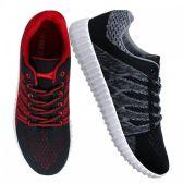 Wholesale Footwear Womens Sneakers in Black And Red