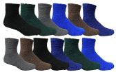 Wholesale Footwear Yacht & Smith Men's Warm Cozy Fuzzy Socks Solid Assorted Colors, Size 10-13