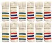 Wholesale Footwear Yacht & Smith Womens Cotton Striped Tube Socks, Referee Style size 9-11