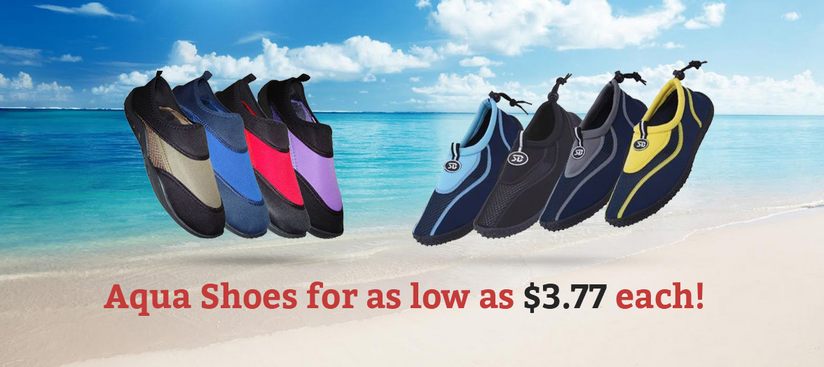 Aqua Shoes for as low as $3.77 each!